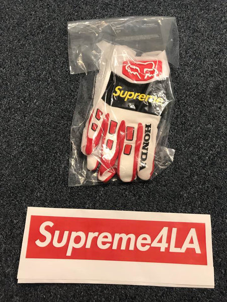 Supreme 19FW Honda Fox Racing Gloves Red