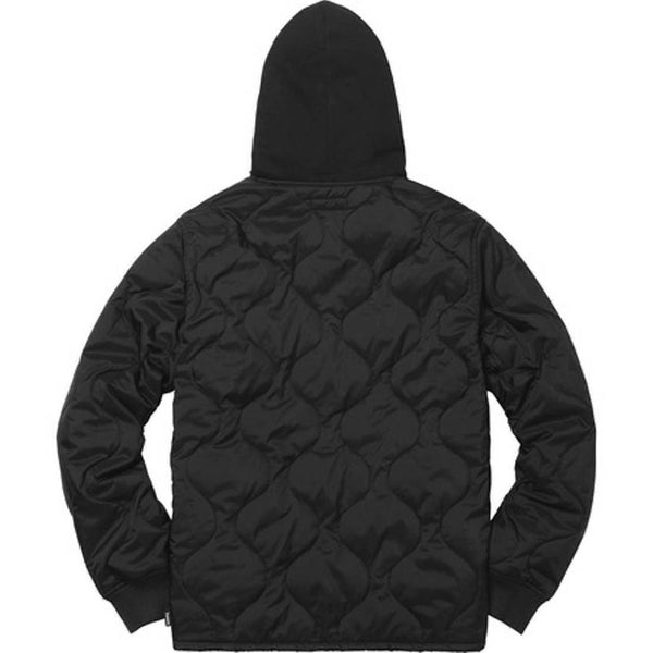 Supreme 17F/W Quilted Liner Hooded Jacket Black