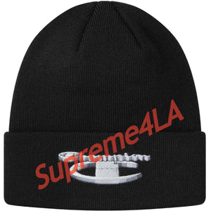 Supreme 18F/W Champion 3D Metallic Beanie Black