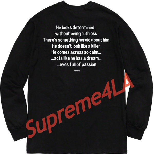 Supreme 18F/W The Killer L/S Tee Black