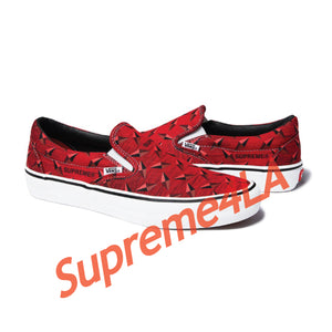 19S/S Vans® Diamond Plate Slip-On Pro Red