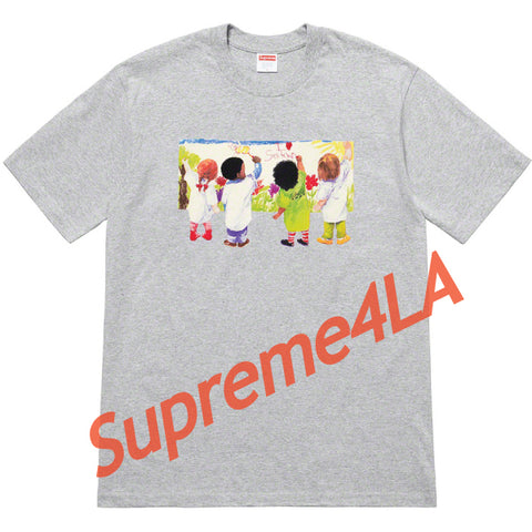 19S/S Kids Tee Heather Grey