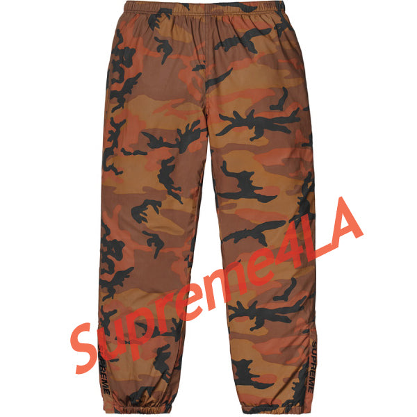 Supreme 18F/W Reflective Camo Warm Up Pant Orange Camo