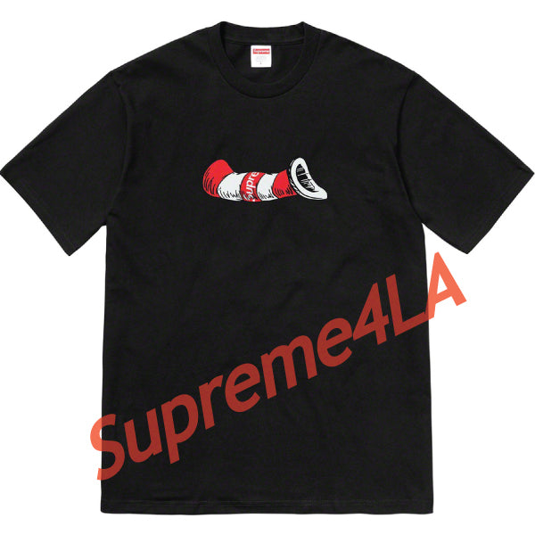 Supreme 18F/W Cat in the Hat Tee Black
