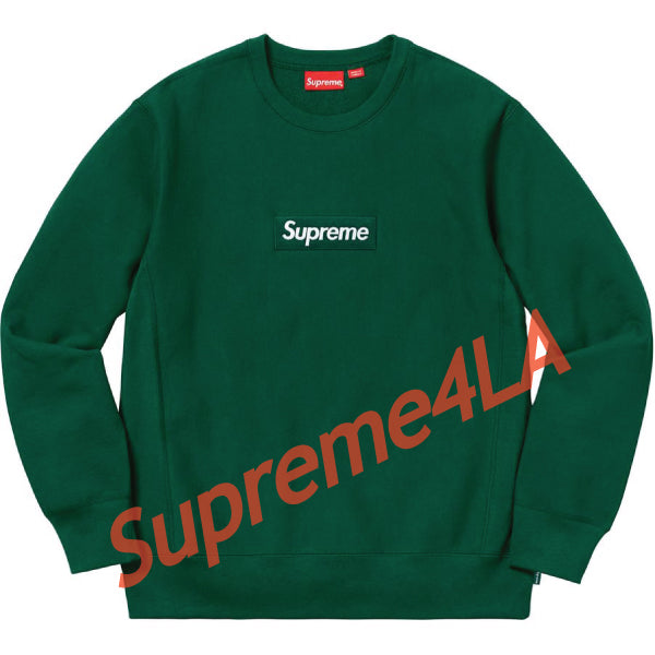 Supreme 18F/W Box Logo Crewneck Dark Green