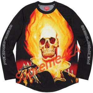 19S/S Ghost Rider© Raglan L/S Top Black