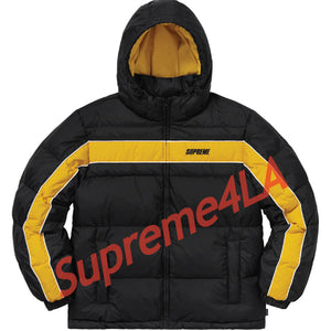Supreme 18F/W Stripe Panel Down Jacket Black