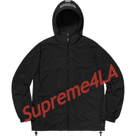 Supreme 18F/W 2-Tone Zip Up Jacket Black