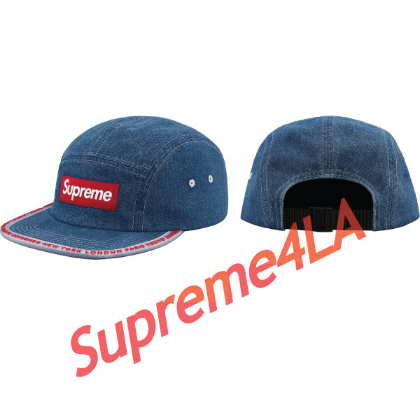 19S/S Worldwide Visor Tape Camp Cap Denim