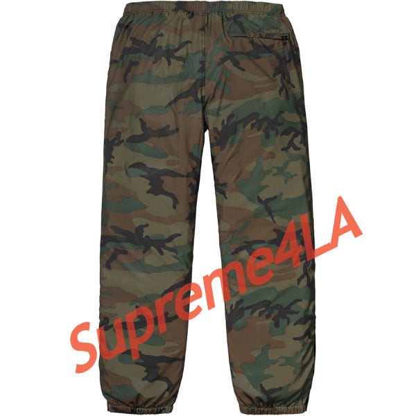 Supreme 18F/W Reflective Camo Warm Up Pant Woodland Camo
