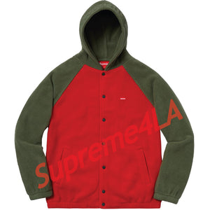 Supreme 18F/W Polartec Hooded Raglan Jacket Red