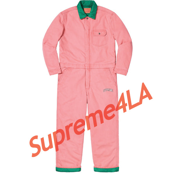 Supreme 18F/W Levi's Denim Coveralls Pink