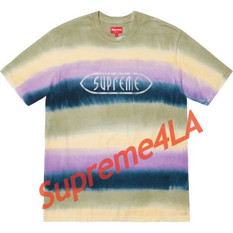 19S/S Rainbow Stripe Tee Purple