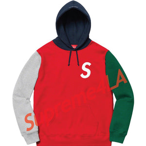 19S/S S Logo Colorblocked Hooded Sweatshirt Red