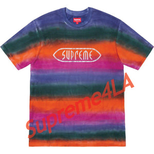19S/S Rainbow Stripe Tee Orange