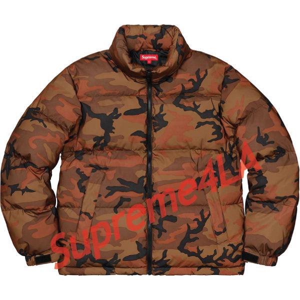 Supreme 18F/W Reflective Camo Down Jacket Orange Camo