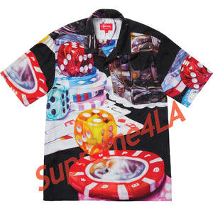 Supreme 18F/W Casino Rayon Shirt Black Size L