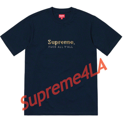 19S/S Gold Bars Tee Navy