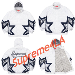 19S/S Stars Puffy Jacket White