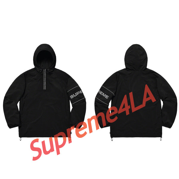 19S/S Nylon Ripstop Hooded Pullover Black
