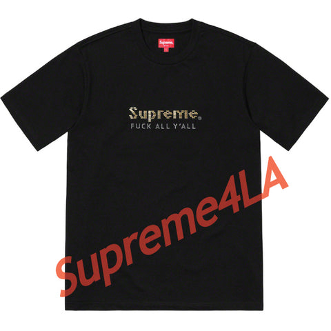 19S/S Gold Bars Tee Black