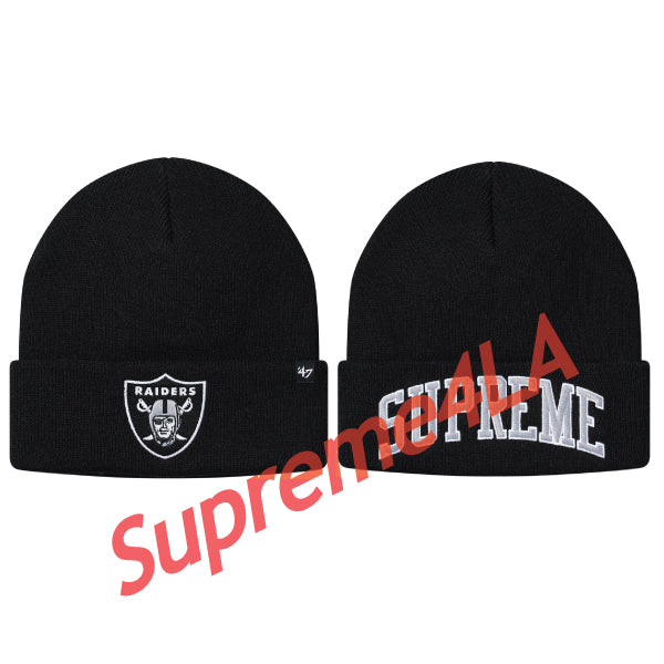 19S/S NFL/Raiders/'47 Beanie Black