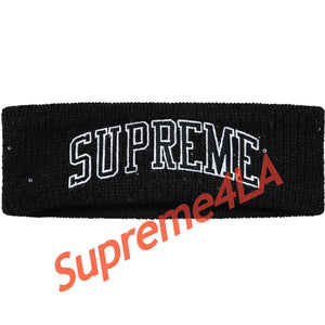 Supreme 18F/W New Era Sequin Arc Logo Headband Black