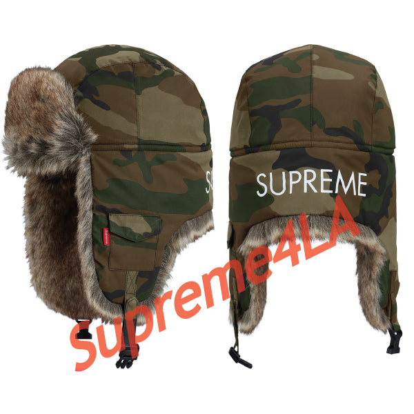 Supreme 18F/W Reflective Camo Trooper Woodland Camo