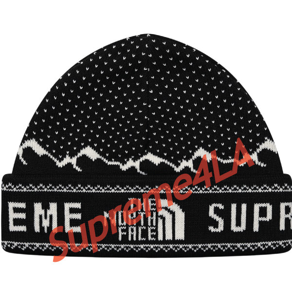 Supreme 18F/W The North Face® Fold Beanie Black