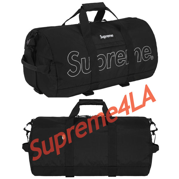 Supreme 18F/W Duffle Bag Black
