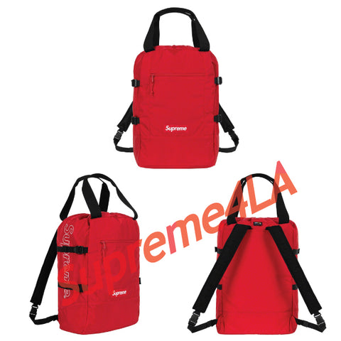 19S/S Tote Backpack Red