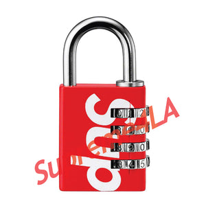 19S/S Master Lock® Numeric Combination Lock Red