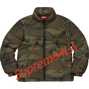 Supreme 18F/W Reflective Camo Down Jacket Woodland Camo