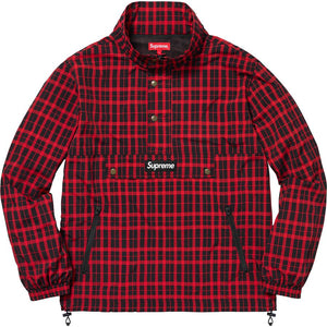 Supreme 18F/W Nylon Plaid Pullover Red