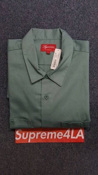 Supreme 17S/S Michael Jackson S/S Work Shirt Work Green