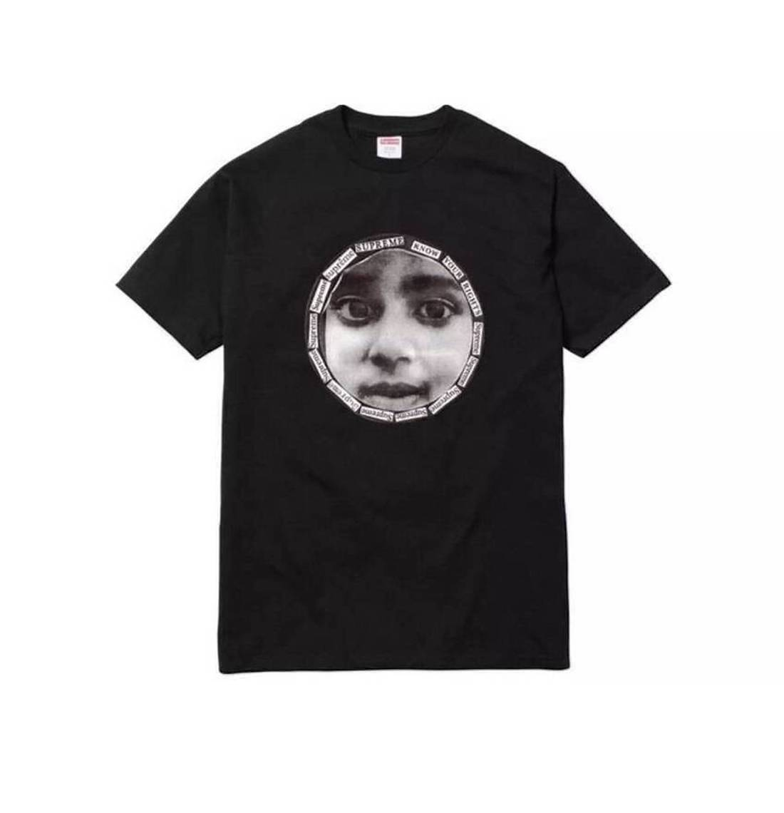 Supreme 17S/S Know Your Rights Tee Black