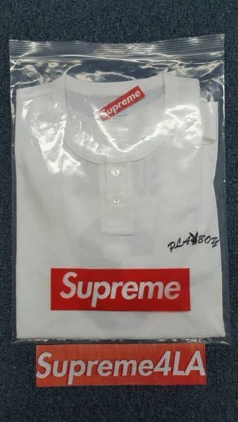Supreme 17S/S Playboy S/S Henley Top White