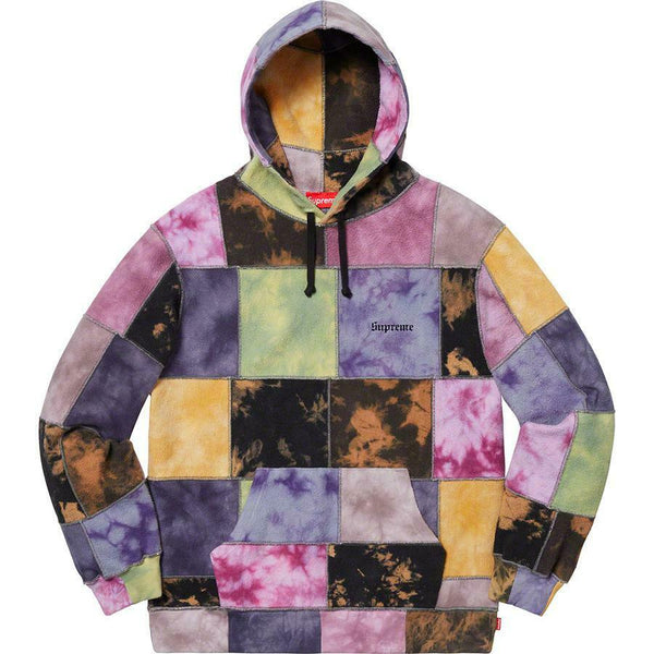 Supreme 19S/S Patchwork Tie Dye Hooded Sweatshirt