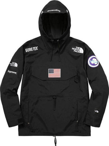Supreme 17S/S TNF Expedition Gore-Tex Pullover Black