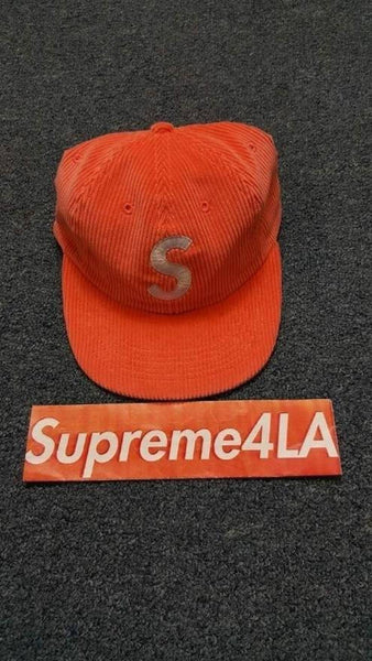 Supreme 17S/S Corduroy S Logo 6-Panel Hat Bright Peach