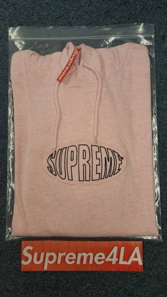 Supreme 17S/S Wrap Hooded L/S Top Pink