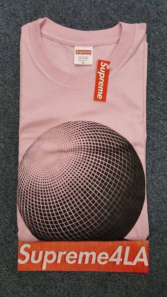 Supreme 17S/S M.C. Escher Three Spheres Tee Pink