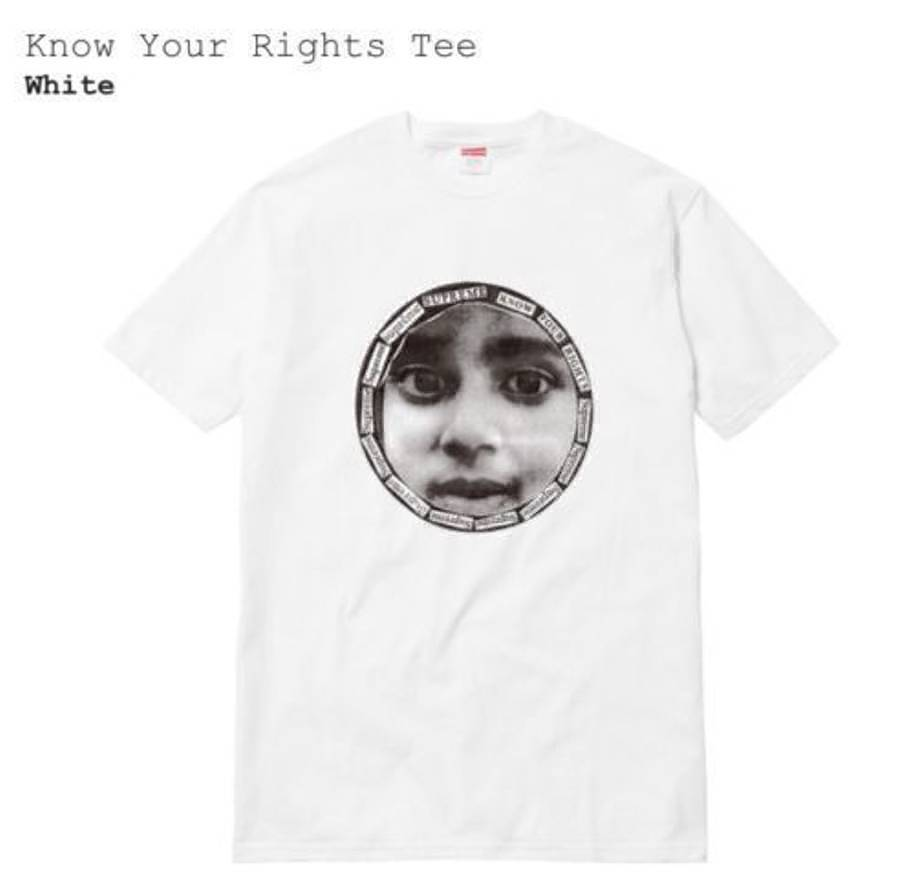 Supreme 17S/S Know Your Rights Tee White