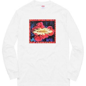 Supreme 17F/W Bloom L/S Tee White