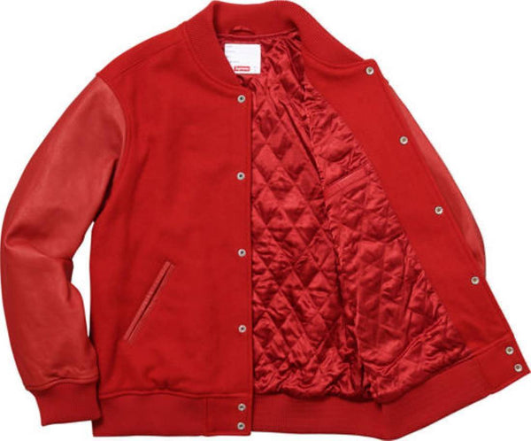 Supreme 17F/W Gonz Ramm Varsity Jacket Red