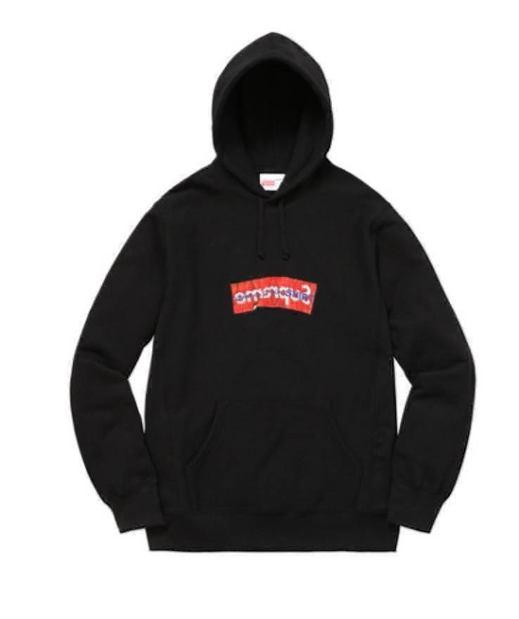 Supreme 17S/S CDG Box Logo Hooded Sweatshirt Black