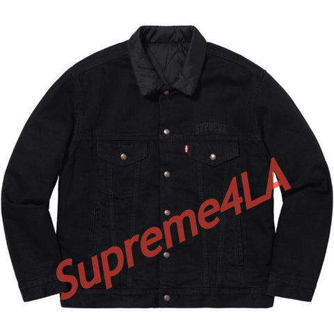 Supreme 18F/W Levi's Quilted Reversible Trucker Jacket