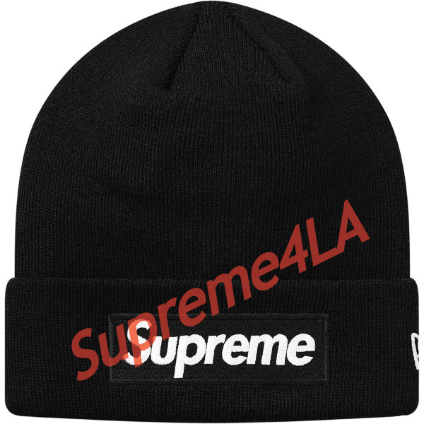Supreme 18F/W New Era Box Logo Beanie Black