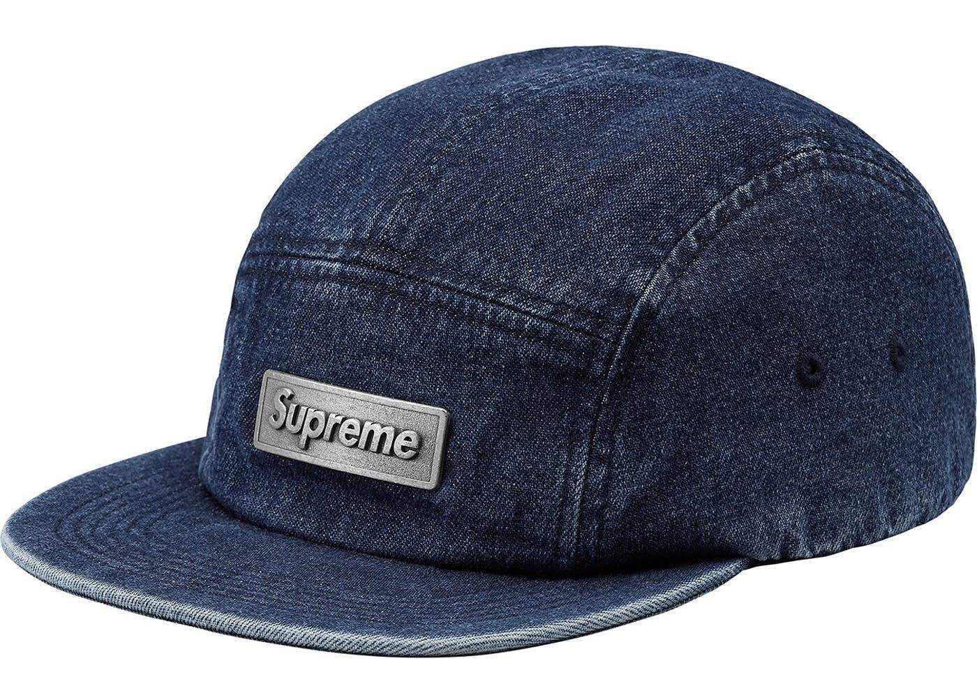 Supreme 18S/S Metal Plate Camp Cap Blue