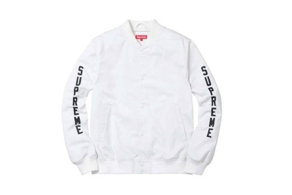 Supreme 16S/S White AntiHero Bomber Jacket